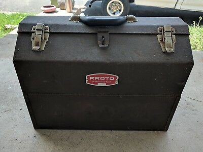 Proto Kennedy Cantilever Hand Carry Metal Tool Box Usa