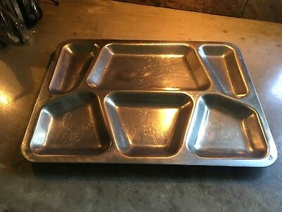 Carrollton Mfg USA Stainless Steel Military Food Serving Tray 1951 Korean War