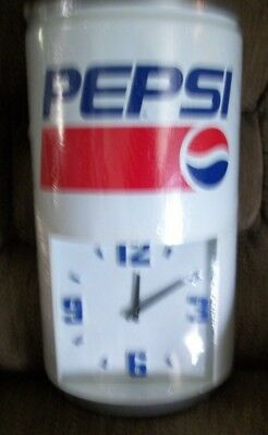 """New and Sealed Vintage Pepsi Can Clock - Large Can Style 23"""" Tall"""