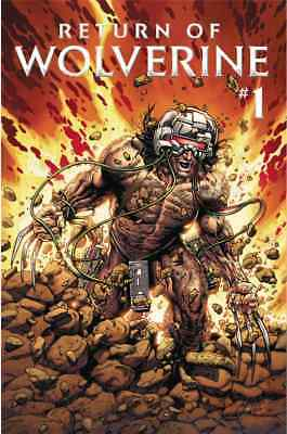 RETURN OF WOLVERINE 1 STEVE McNIVEN WEAPON-X COSTUME VARIANT HE'S BACK BUB NM