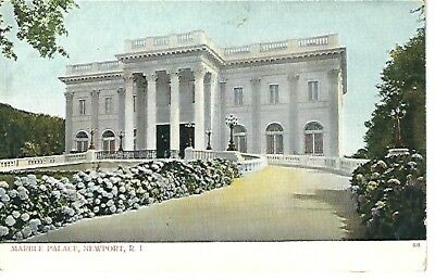 Vintage Postcard, MARBLE PALACE, Newport, RI pre-1907 very good condition