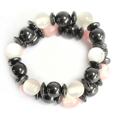 Hematite MAGNETIC colour THERAPY bracelet, and glass beads Dress jewellery.