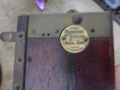 "Thornton Pickard ""red Ruby"" Triple Extension Camera Parts Antique Plate Camera"
