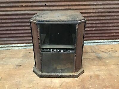 RARE EARLY WILSON sports Glass Display Case-locking Counter Top Case-SUPER COOL