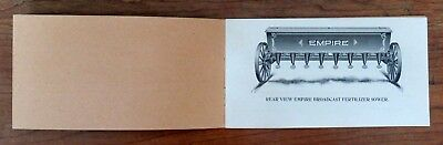 1908 Empire Broadcast Fertilizer Sower; Shortsville, NY Ad Booklet w/ Nice Pics