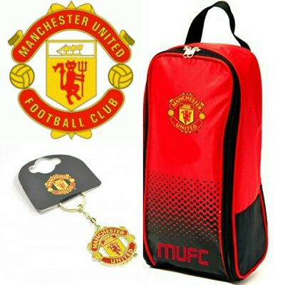 Manchester UTD F.C. Gift Pack- Boot Bag, Keyring, - PERSONALISE ME ANY NAME!