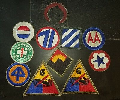 WWII Korea US Army Woven Variations Patch Lot