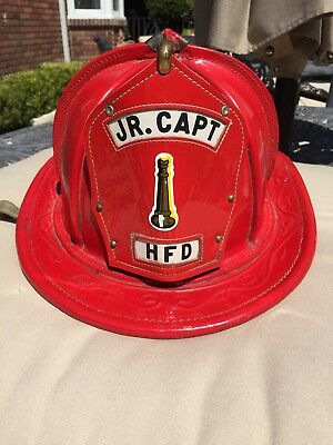 "Vintage Cairns ""Jr. Captain"" Leather firefighter helmet"