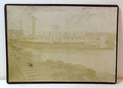 """Very rare Mississippi riverboat original cabinet photo; """"Ruth"""" Lee Line Steamers"""