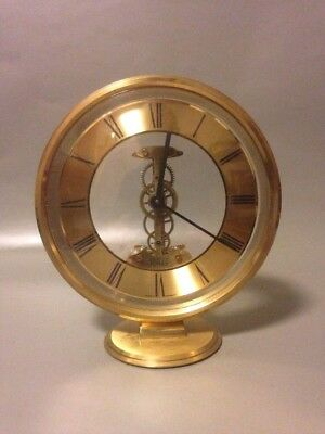 Ernest jones brass skeleton clock collectable mantle vintage sigfreid Haller