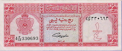 Libya 1/4 Pound Banknote (1963)-AH1382,Choice Very Fine Condition Cat#23-A-0693