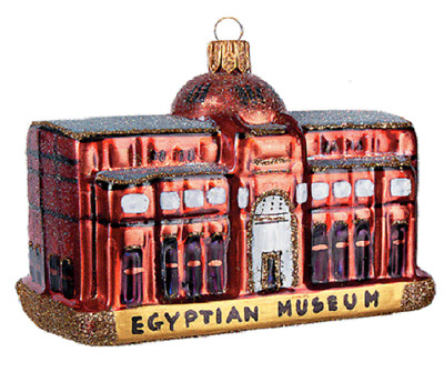Cairo Egypt Egyptian Museum Glass Christmas Tree Ornament Travel Vacation 011299
