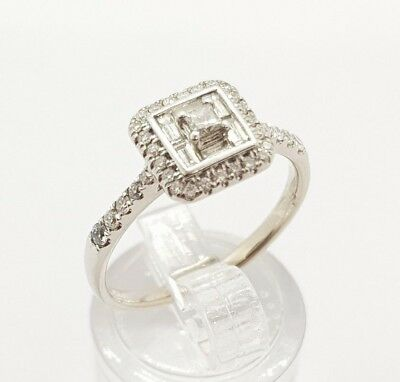 Michael Hills 18ct Solid white gold ring with TDW 0.58ct diamond Val $3450