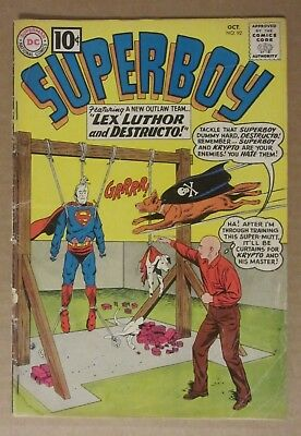 Superboy #92  (1960, DC) GD+ 2.5...Free Shipping!!!