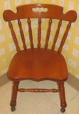 Tell City Mate's Dining Room Chair 8044 With Casters Hard Rock Andover Maple