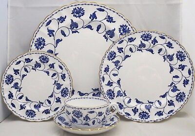 Spode Colonel-Blue (Gold) 5 Piece Place Setting