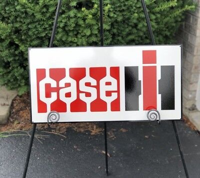 """Case Ih Tractors 24"""" (Porcelain Style) On Metal Steel Farm Gas Oil Sign"""