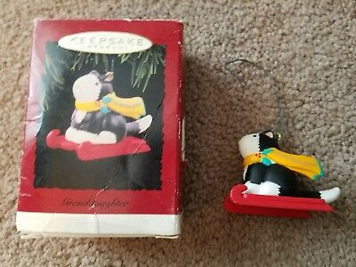 "Hallmark Keepsake Ornaments ""Grand Daughter"" (1996 Cat) ""Stocking Stuffing"" 2012"