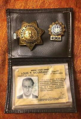 RARE Obsolete ID'd MARIN COUNTY California SPECIAL DEPUTY SHERIFF BADGE WALLET