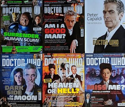Dr DOCTOR WHO DWM 475-480 6 Magazines 2 Posters, Peter Capaldi, Missy, Cybermen