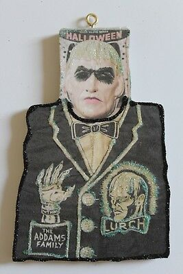 Lurch Adam's Family Costume * Halloween Ornament * Vtg  Image * Glitter