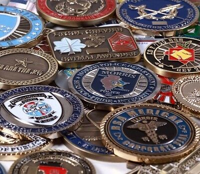 12 Coin Challenge Coin Grab Bag Corp, Police, Government, Personal, Random