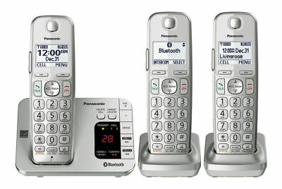 Panasonic KX-TGE463S Cordless Telephone Bluetooth Answering Machine, NEW IN BOX