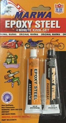 MARWA 4-minute Cold Weld Metal Bonding 2 Component Epoxy Adhesive Resin+Hardner