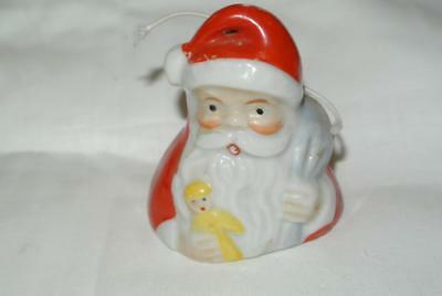 Vintage Santa With Toy Sack And Doll Bell Ceramic Japan
