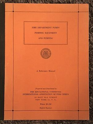 Vintage Reference Manual Intl.Assoc.of Fire Chiefs