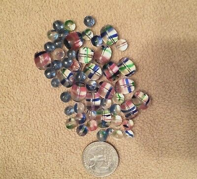 Vintage Collectable Rainbow Glass Beads