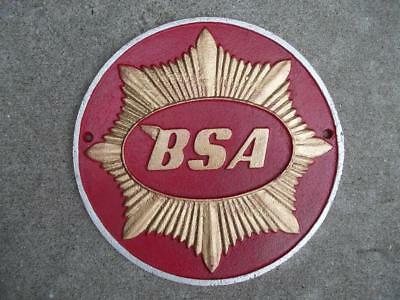 Large Cast Iron Bsa Gold Star Motorcycle Sign Plaque Cycle British Dealer Sign!