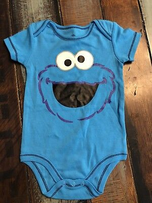 95f8f95ccc2c COOKIE MONSTER FACE Infant Romper -  12.99