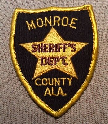 AL Monroe County Alabama Sheriff Patch (3.75In)