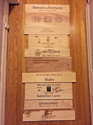 10 Long WOOD WINE PANELS CRATE BOX SIDE