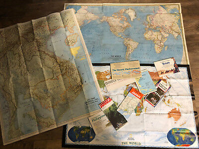 lot of 11 Vintage World Maps Vietnam Japan Greece Philippines Jamaica Britain