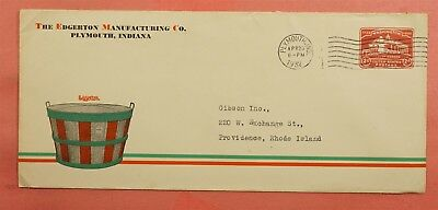 1932 Stationery Edgerton Mfg Baskets Advertising Plymouth In Indiana