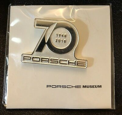 Porsche 70 Year Anniversary Collector Souvenir Pin 2018 New Sealed Authentic