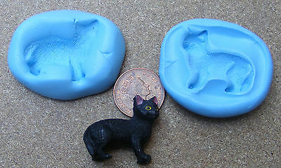 1:12 Scale Reusable Standing Cat 2 Part Silicon Rubber Mould Tumdee Dolls House