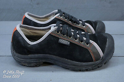 VGC! KEEN Briggs Womens Size 7.5 Lace-up Oxfords Black/Gray/Red