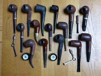 Lot de 15 pipes ....