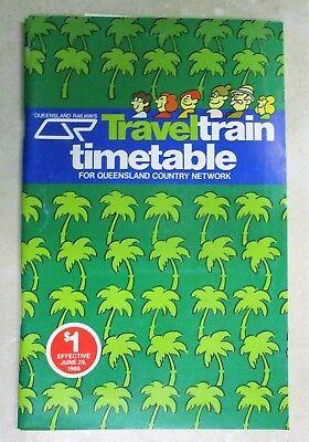 Queensland Railways Traveltrain Timetable for the Country Network - 29 June,1986