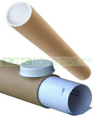 100 SMALL A2 SIZE POSTAL TUBES 460mm LONG x 45mm DIAMETER MAILING POSTER - NEW