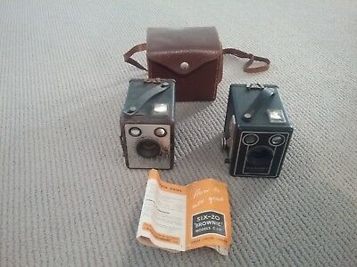 brownie camera x 2 with carry case