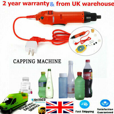 Red!! Handheld Electric Bottle Capping Machine Screw Capper Sealing Machine UK