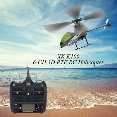 XK K100 6CH 3D 6G System RTF RC Helicopter Built-in Gyro Super Stable Flight