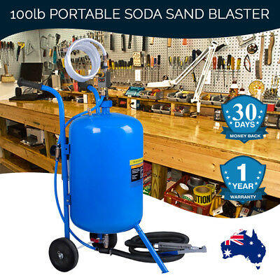 Sand Blaster Portable Soda 100LB Industrial Hardware 2in1 Air Pressure Cleaners