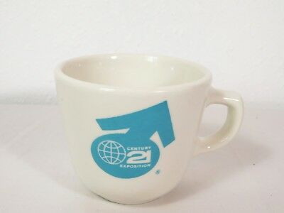 RARE Vtg Homer Laughlin SEATTLE WORLDS FAIR COFFEE MUG Tea Cup China Pottery MCM