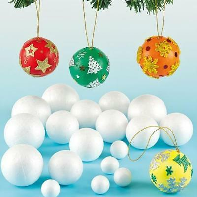 1 pcs Polystyrene Styrofoam Foam Ball White Craft Balls Wedding Christmas Decor
