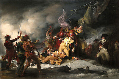 Art Print - Death Of General Montgomery In Attack On Quebec Dec - Trumbull John